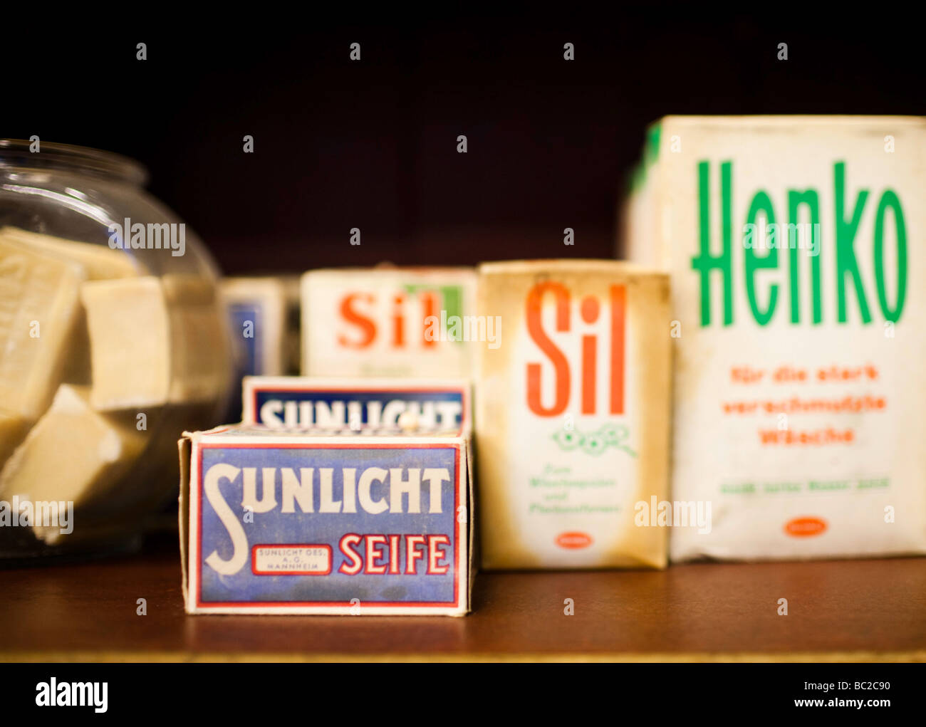 Jabón y detergant Foto de stock