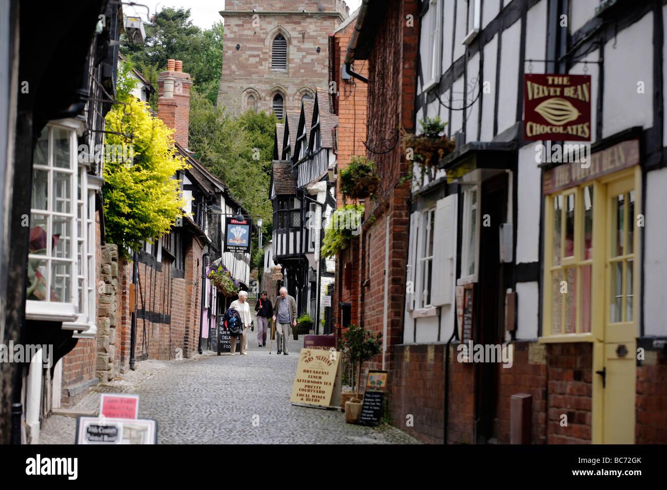 Church Lane en Ledbury, Gloucestershire, Reino Unido Foto de stock