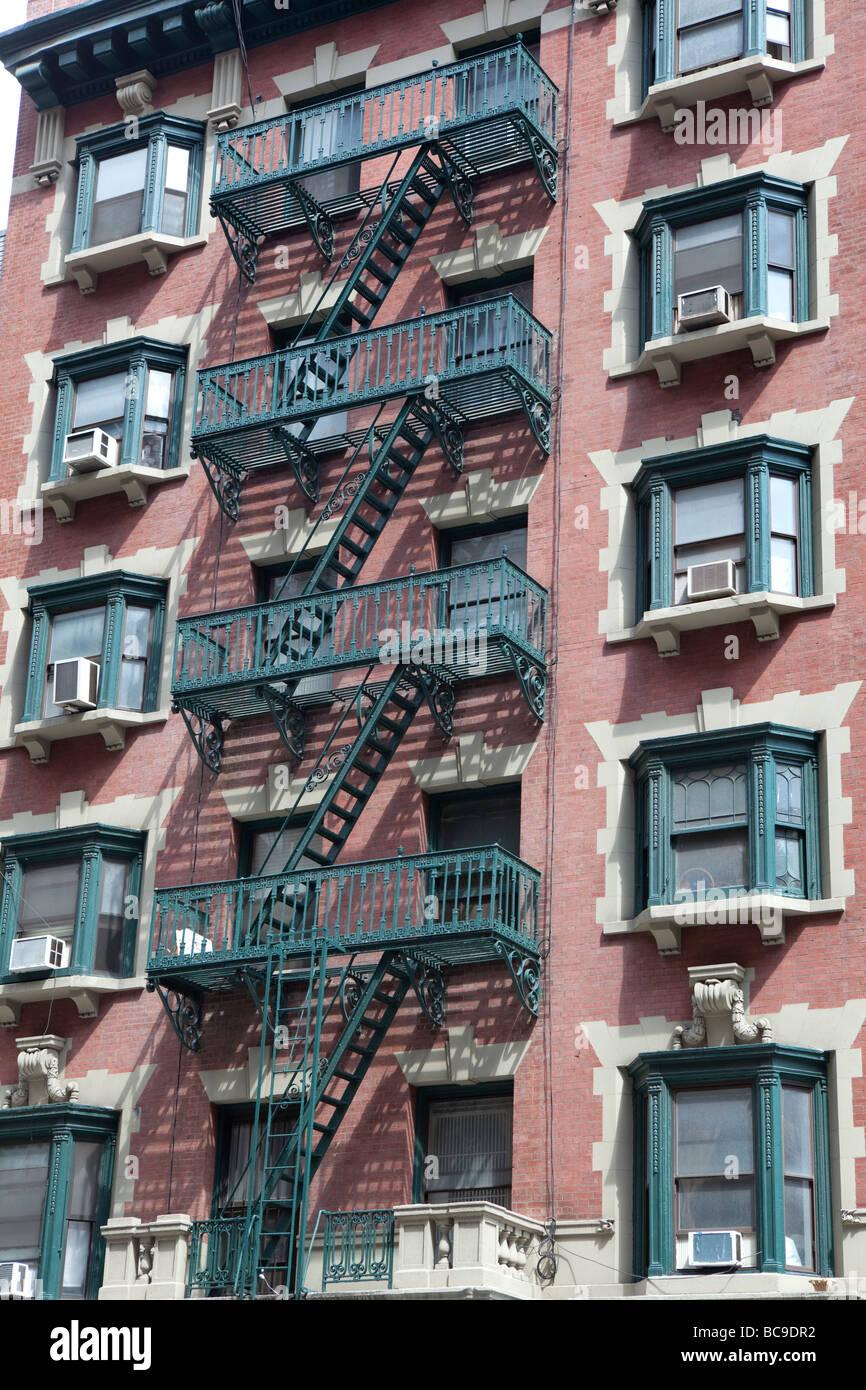 Fachada de casas en NYC Imagen De Stock