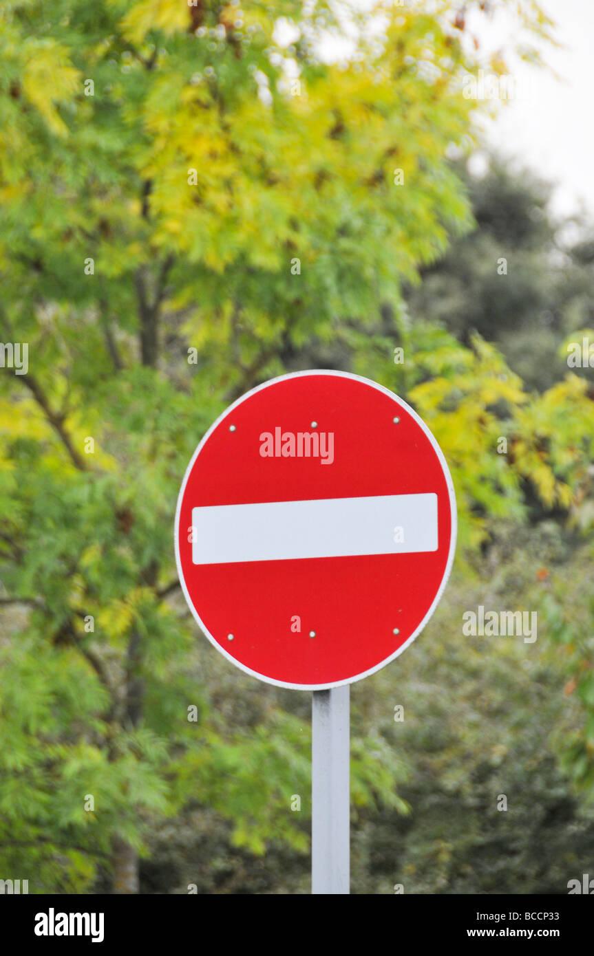 No hay ninguna entrada señal de carretera UK Imagen De Stock