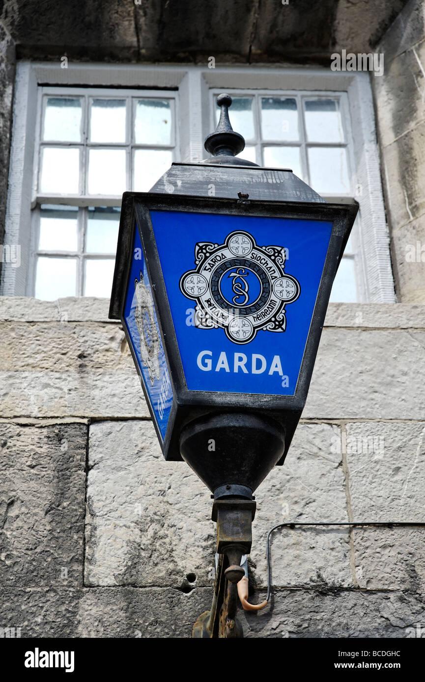 Irish Garda policía signo luz de Dublín, República de Irlanda Imagen De Stock