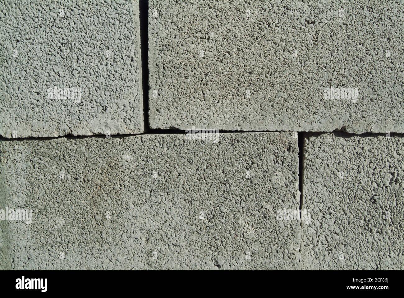 Apilar bloques de hormigón, en un sitio en construcción Imagen De Stock