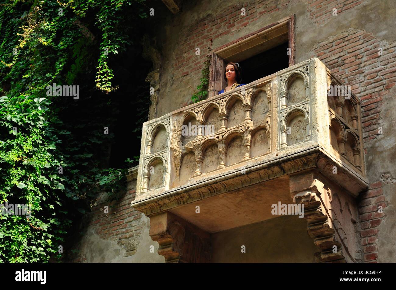 La Casa de Julieta, en Verona, provincia de Verona, Véneto, Italia Imagen De Stock