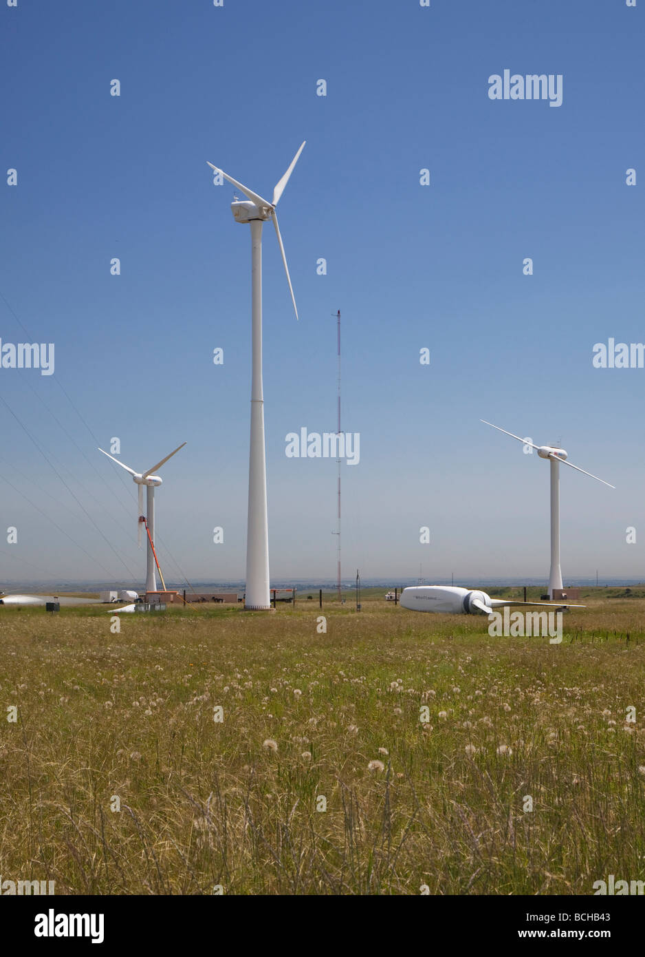 La investigación de la energía eólica, en el Laboratorio Nacional de Energía Renovable del Centro Imagen De Stock