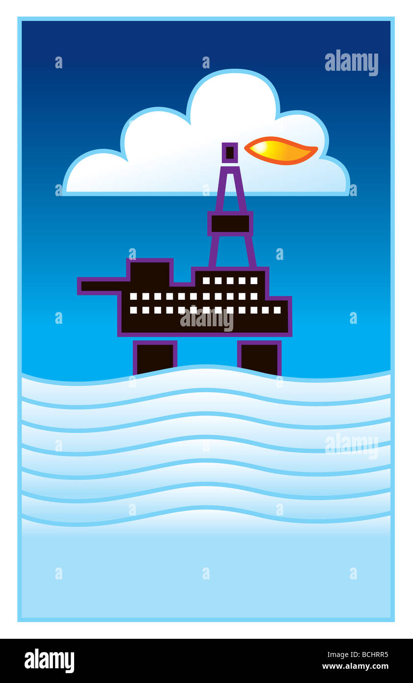 Plataforma petrolera Imagen De Stock