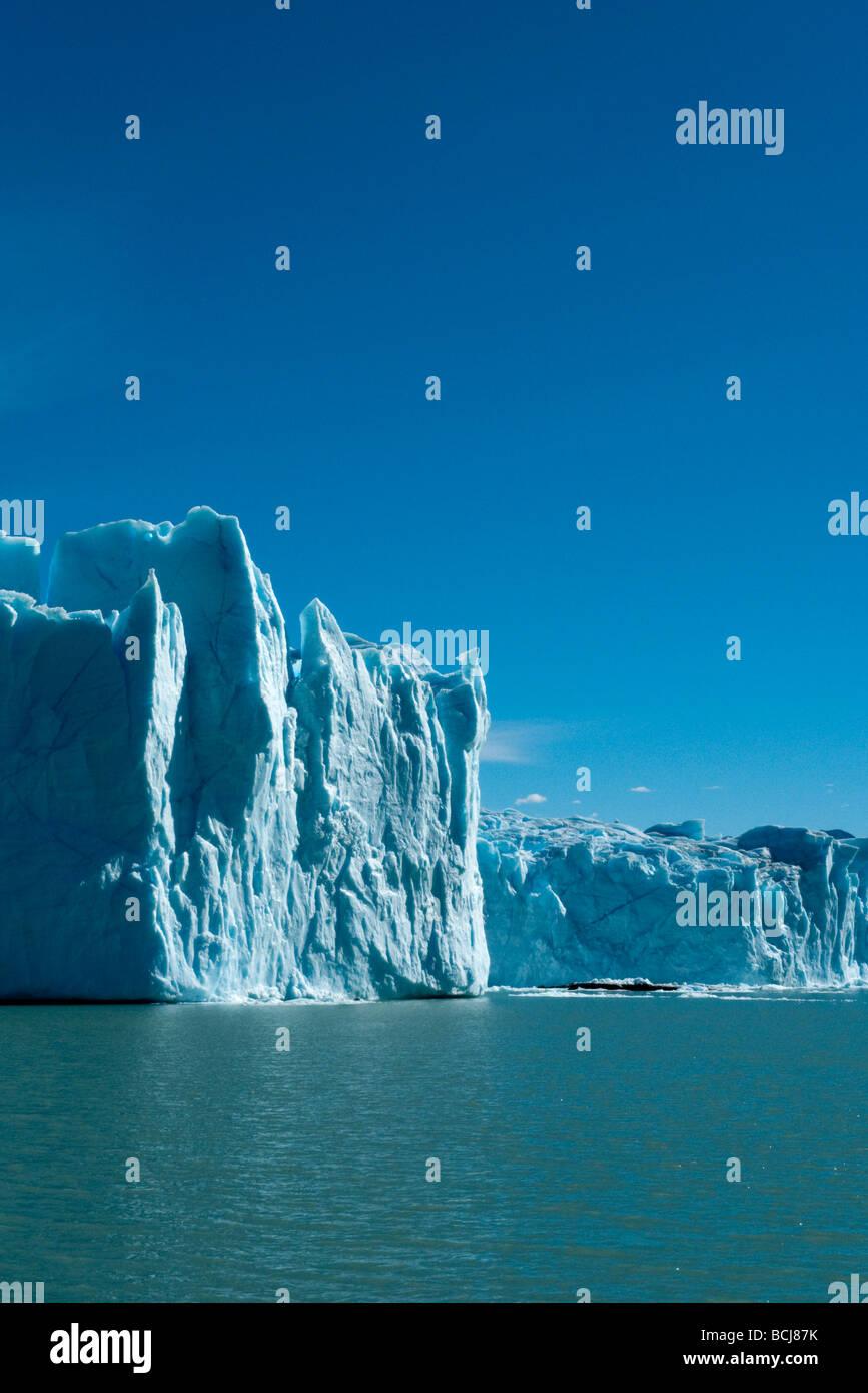 El Glaciar Perito Moreno, Patagonia, Argentina Foto de stock