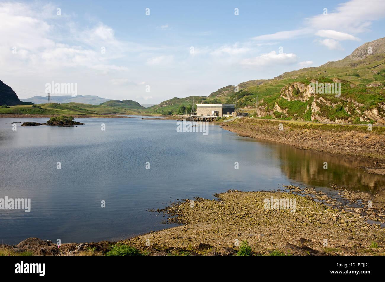 Ffestiniog Hydro Electric Power Station, en el norte de Gales. Imagen De Stock
