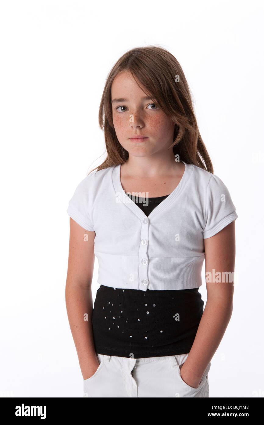 Retrato de una niña de 10 años fresco Imagen De Stock