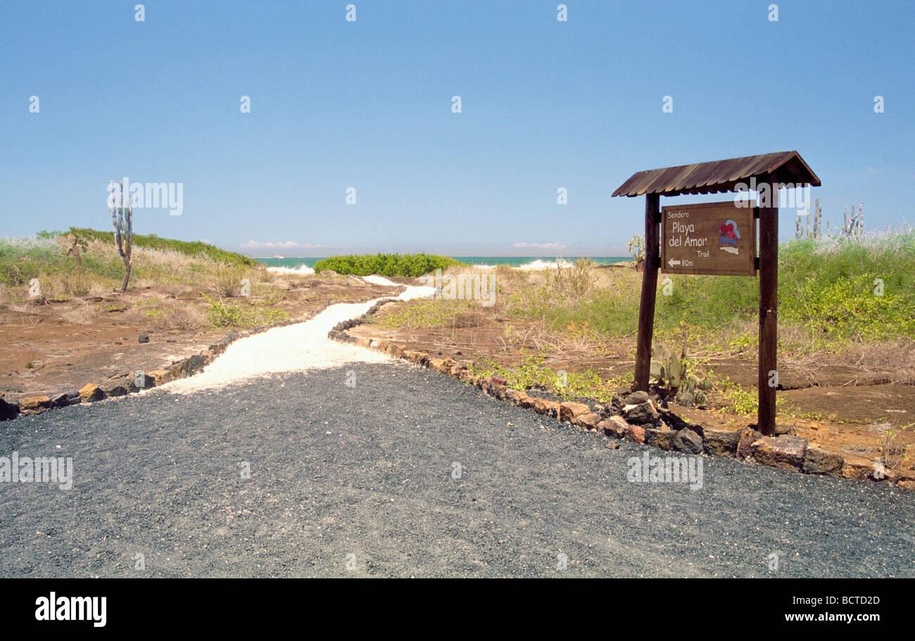 Sendero de arena de la Playa del Amor Isabela Imagen De Stock