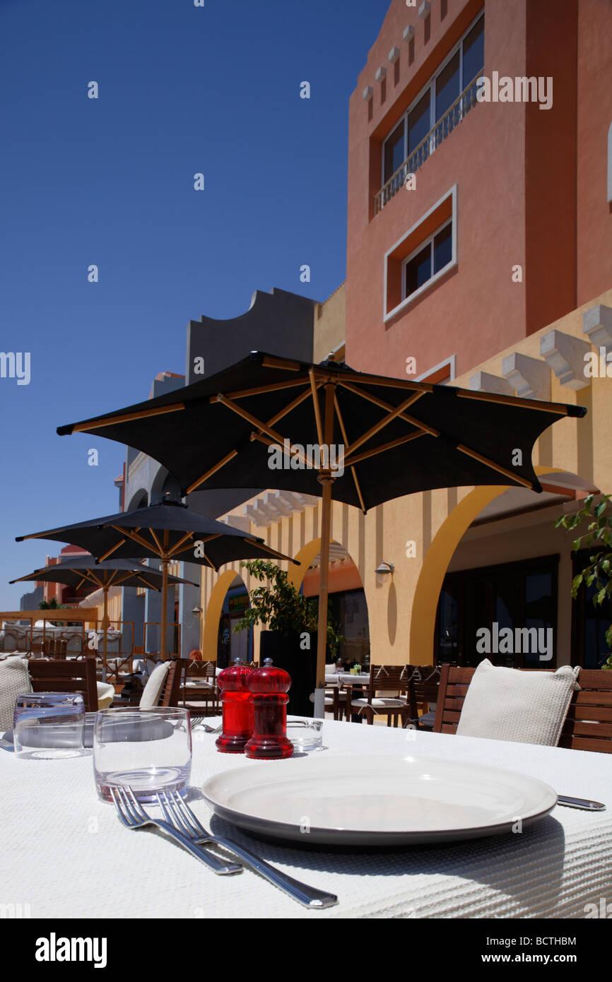 Pusieron la mesa, Hurghada, Egipto, Mar Rojo, África Imagen De Stock