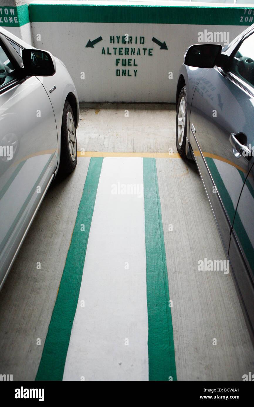 Garaje privilegiado para vehículos híbridos, Boston Imagen De Stock