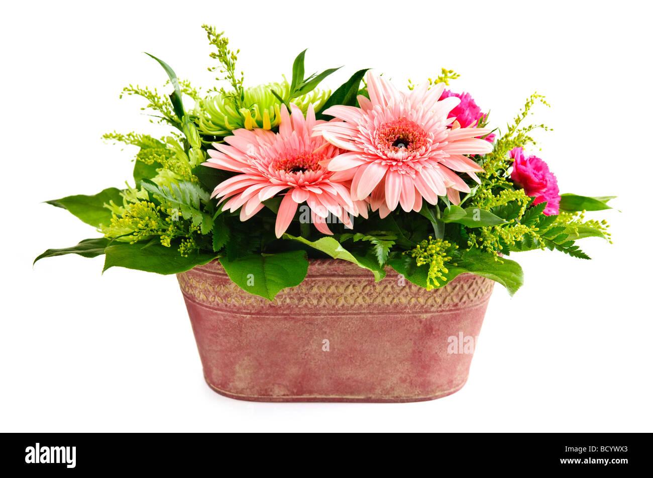 Arreglos Florales Aislados Con Gerbera Y Los Crisantemos