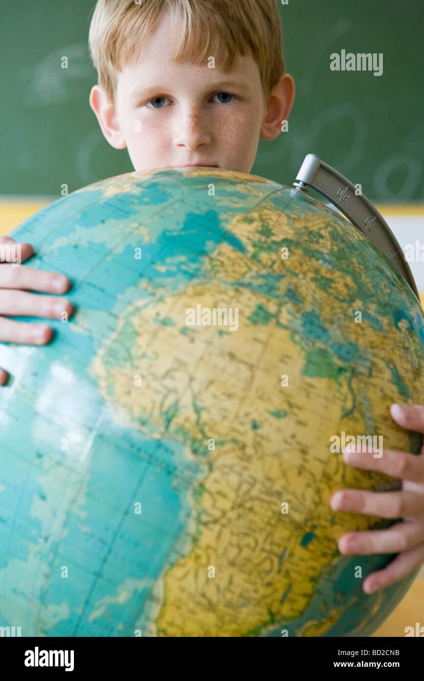 niño con globo Imagen De Stock