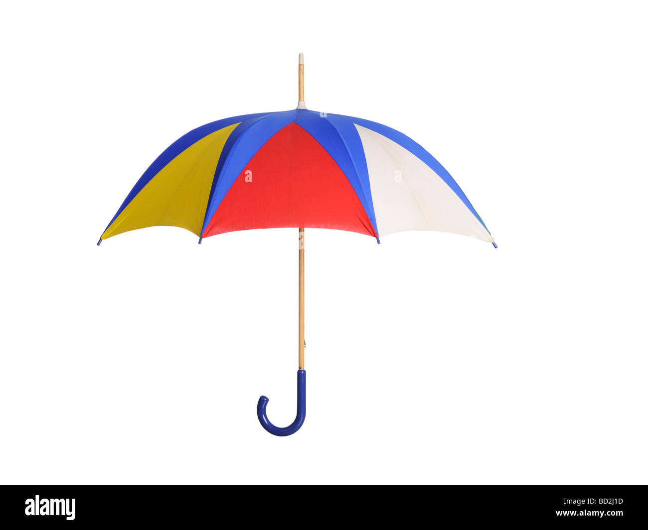 Coloridos paraguas abierto Foto de stock