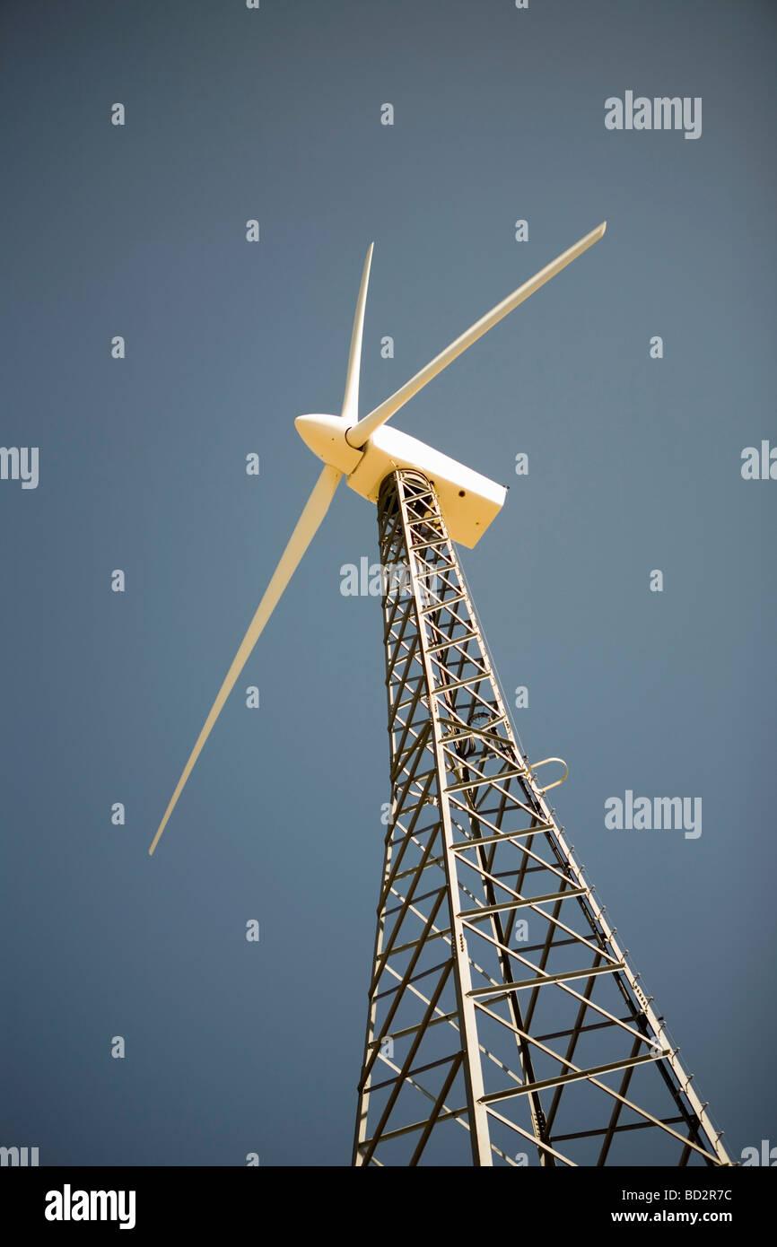 Turbinas de viento generadoras de electricidad Foto de stock