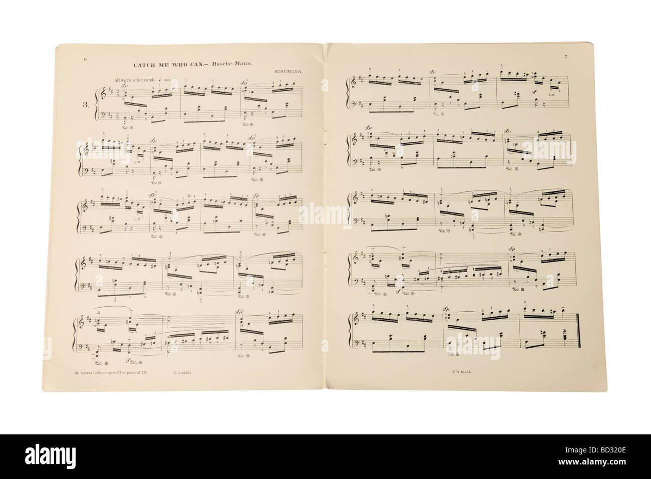Libro de notas musicales partituras Imagen De Stock