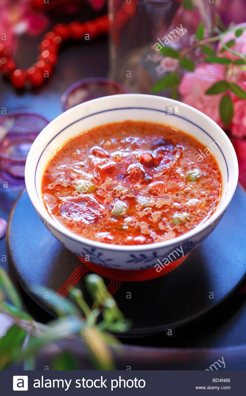 Gazpacho (sopa de verduras frías, España) Imagen De Stock