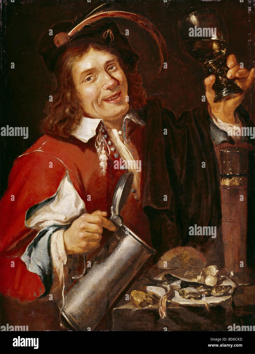 Bellas artes, Pieter van Noort (1529 - circa 1650), pintura, 'el sabor', la serie 'Los cinco', Westfaelisches Imagen De Stock