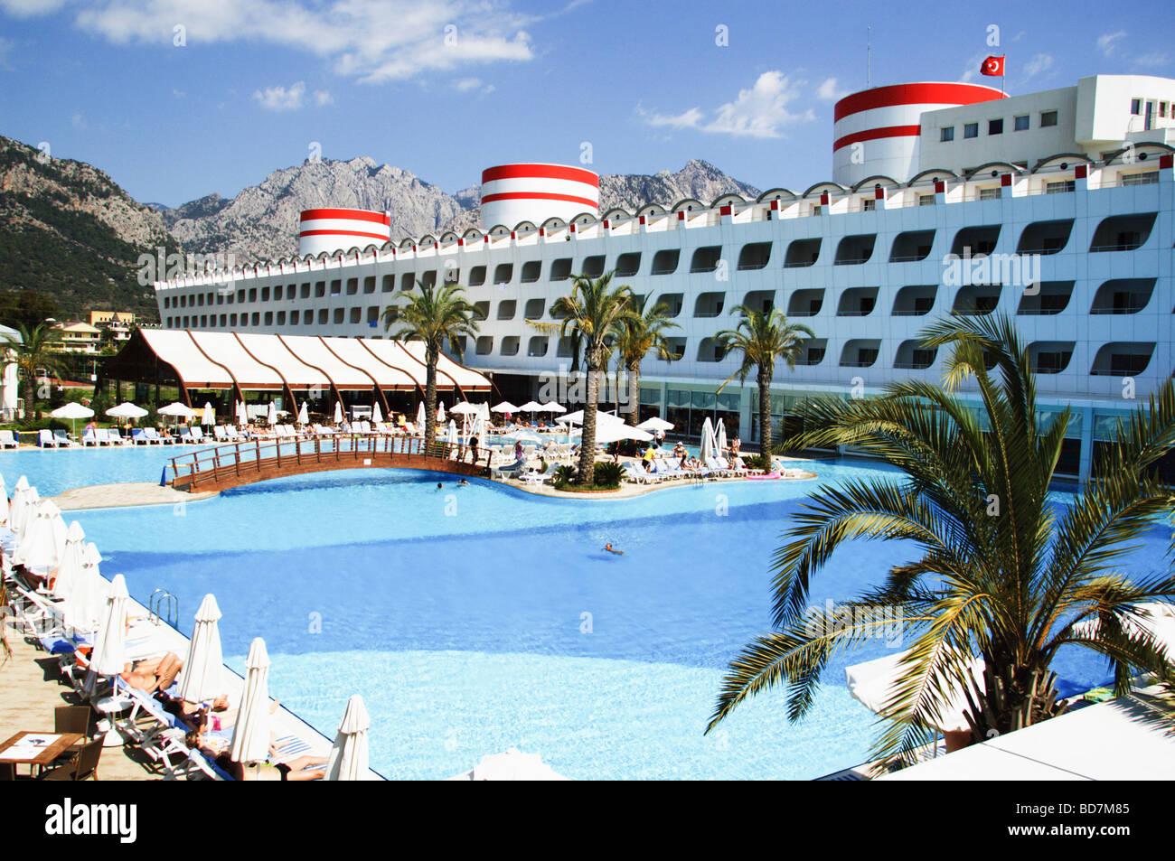 Turquía Antalya Kemer El Queen Elizabeth Elite Suite Spa Hotel Foto de stock