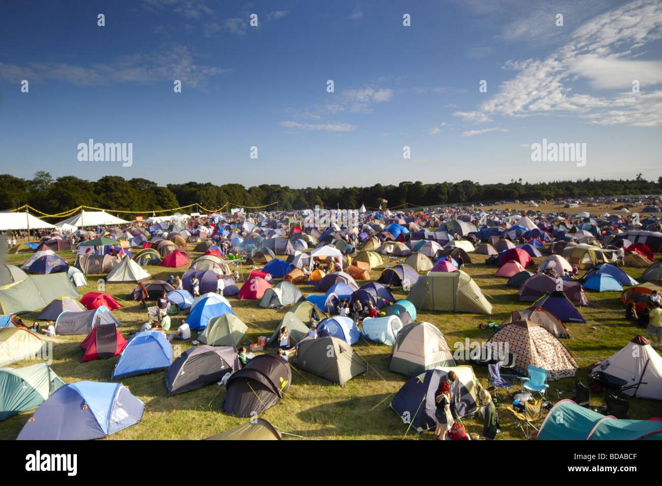Camping principal Latitud Music Festival, Southwold, Suffolk, Reino Unido Imagen De Stock