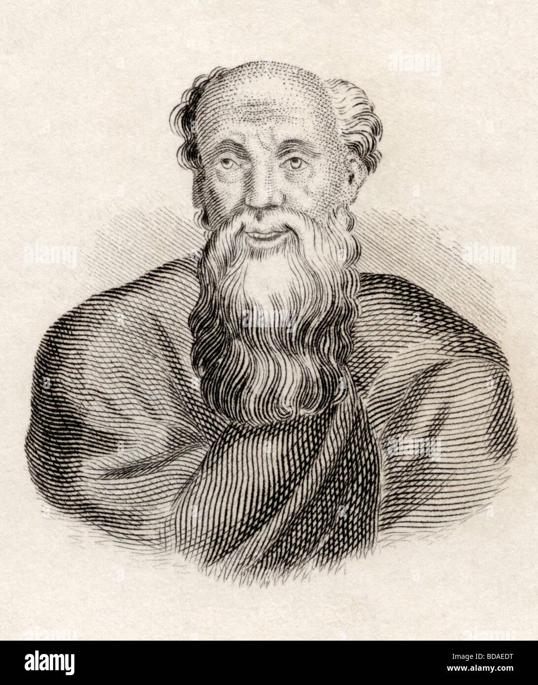 Demócrito nacido circa 460 a.c. murió circa 370 a.c. filósofo griego antiguo. Imagen De Stock
