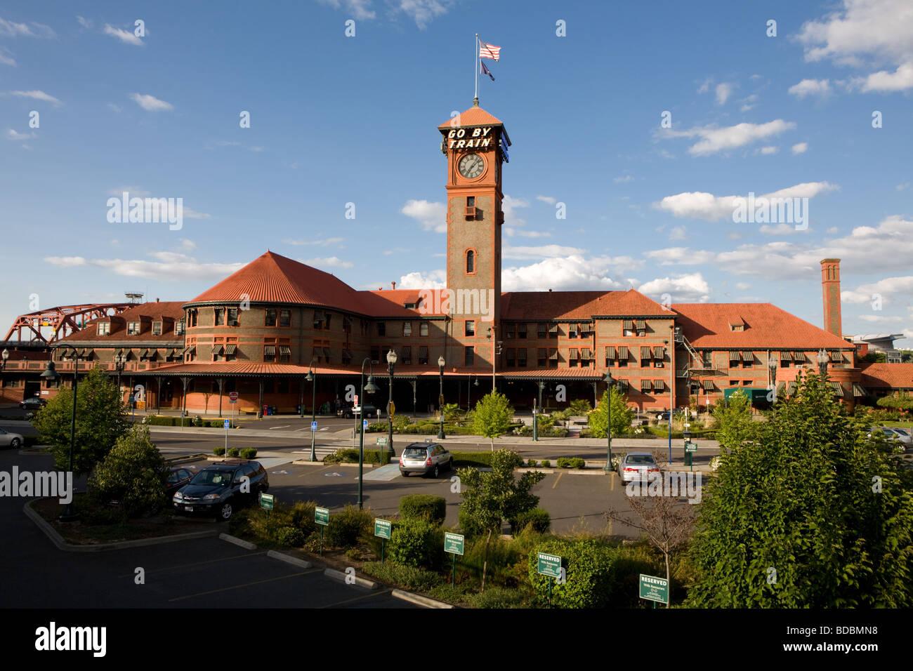 Union Station en Portland, Oregón Foto de stock