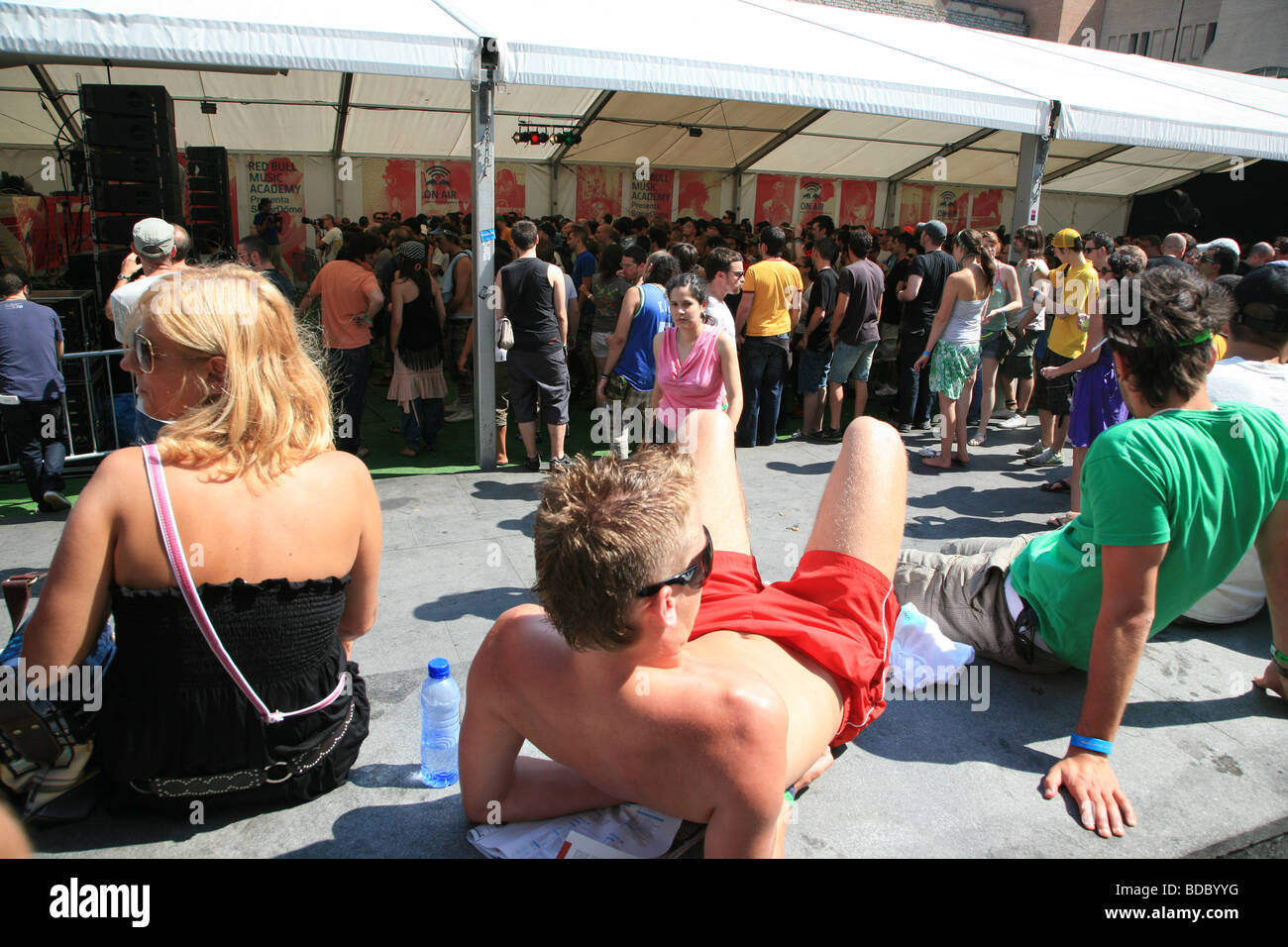 El Festival Sónar, Barcelona 2009 Foto de stock