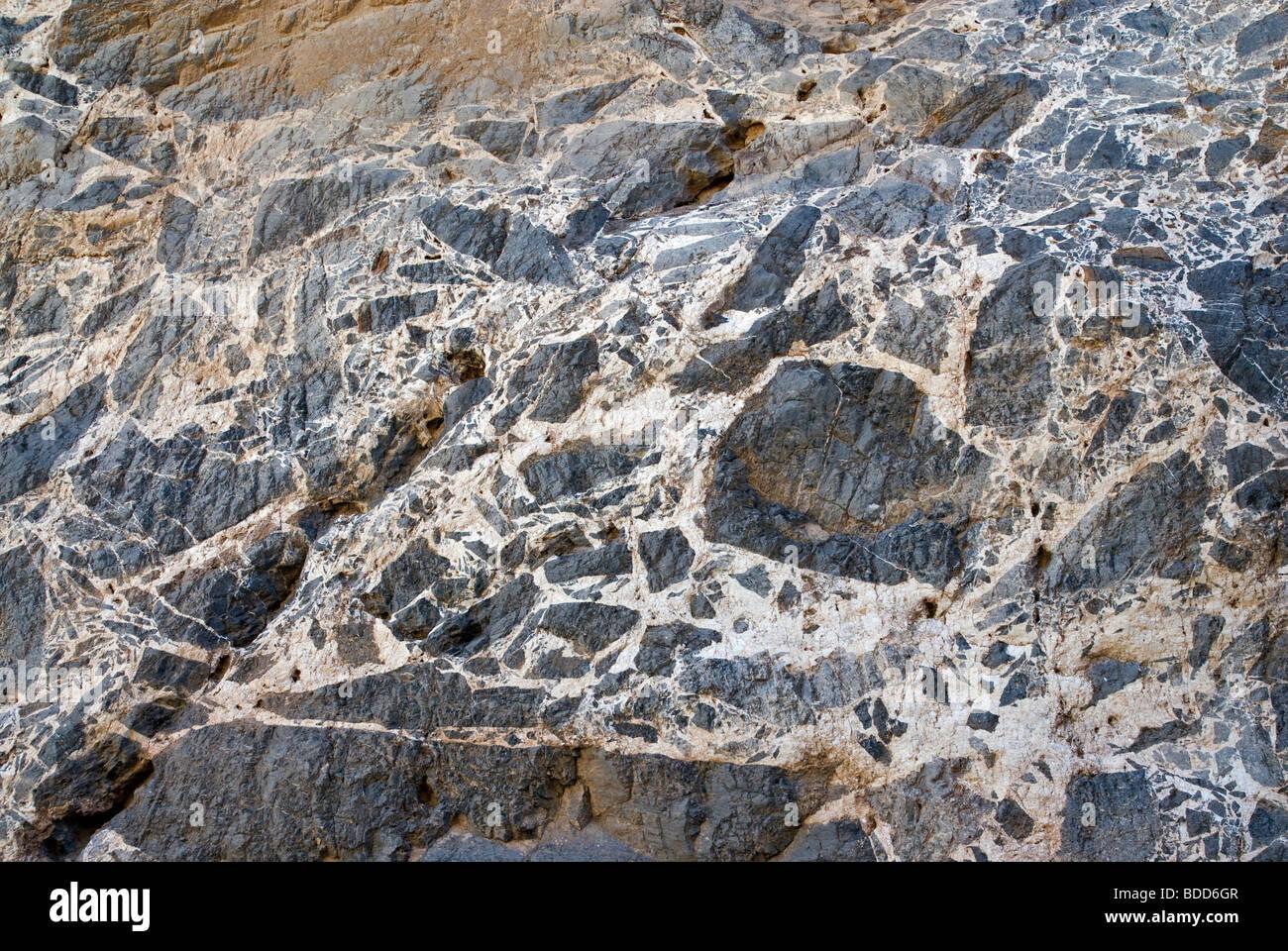 Patrones en las paredes de roca caliza en el estrecho de Titus Canyon, el Parque Nacional Valle de la Muerte, California, Imagen De Stock