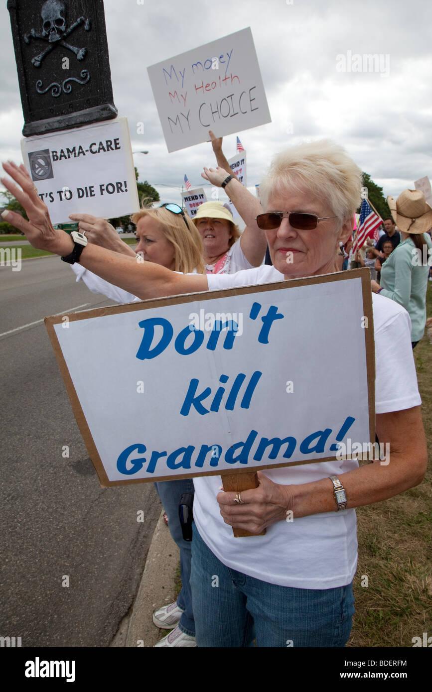 Los opositores de la reforma de la atención de salud Imagen De Stock