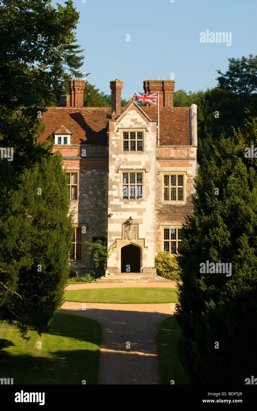 Biblioteca de la casa, Chawton Chawton, cerca de Alton, Hampshire, Reino Unido. Imagen De Stock