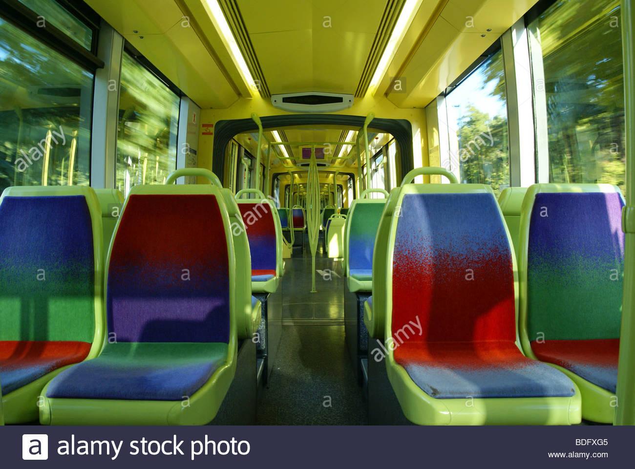 Transporte público: el tranvía Imagen De Stock
