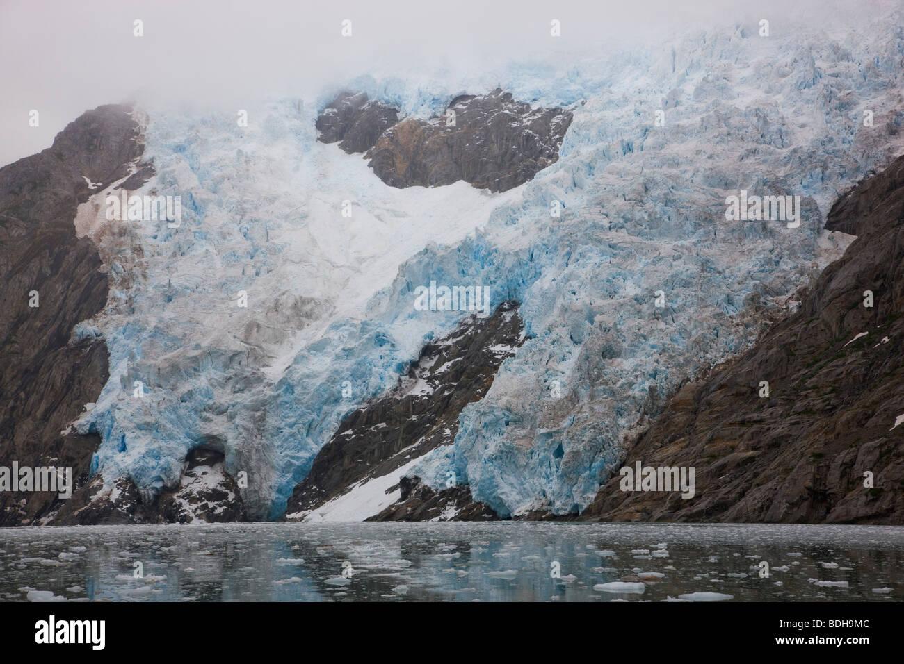 Noroeste del glaciar, noroeste del fiordo, Parque Nacional de los fiordos de Kenai, Alaska. Foto de stock