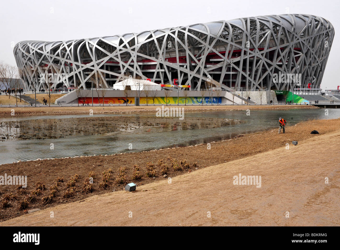Estadio nacional verde Olímpico de China National Aquatics Centre 2008 Juegos Olímpicos de Verano en Beijing China Foto de stock