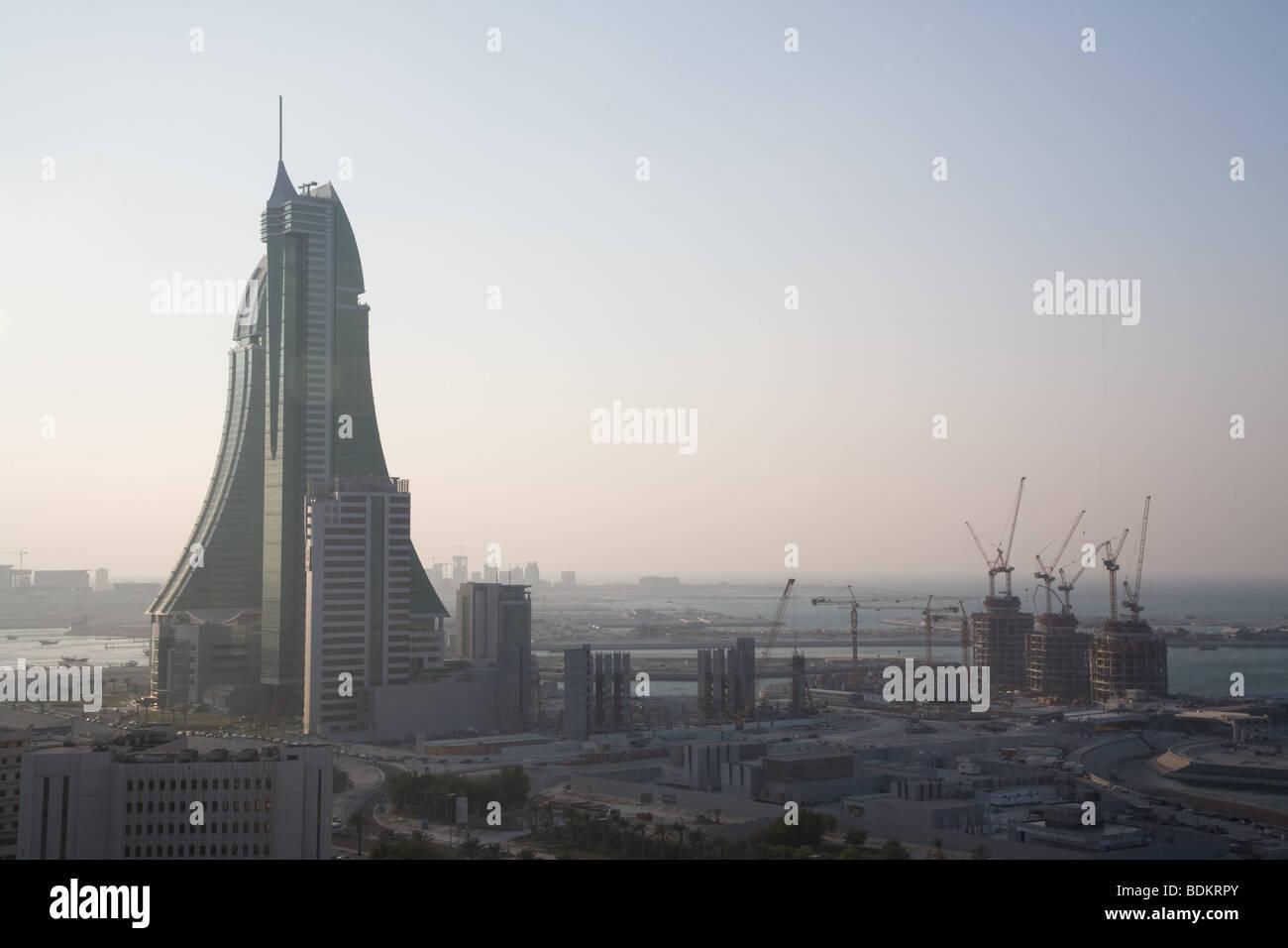 Centro financiero de Bahrein Manama Imagen De Stock