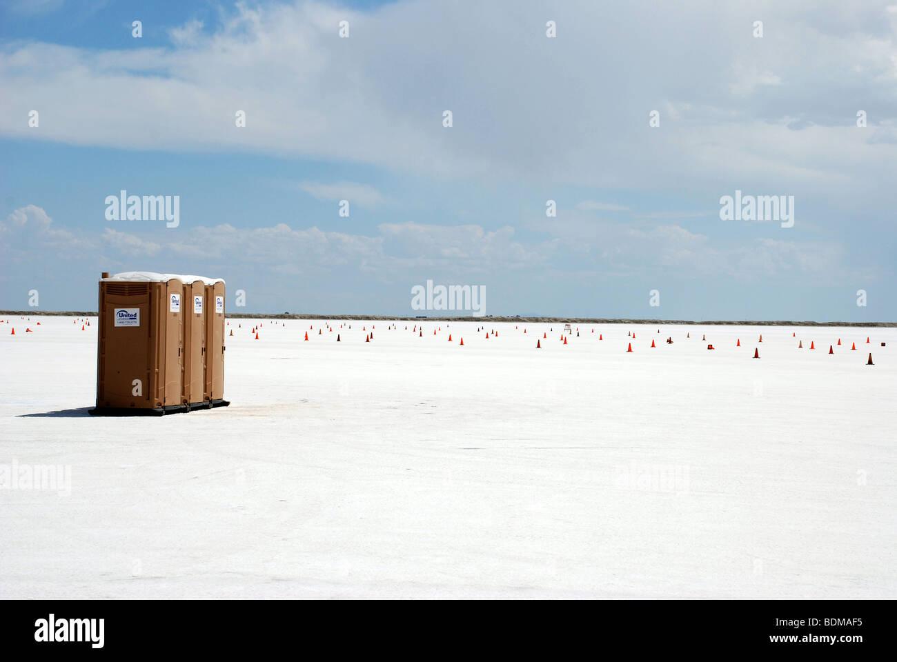 Bonneville Salt Flats, en Utah, EE.UU. Imagen De Stock