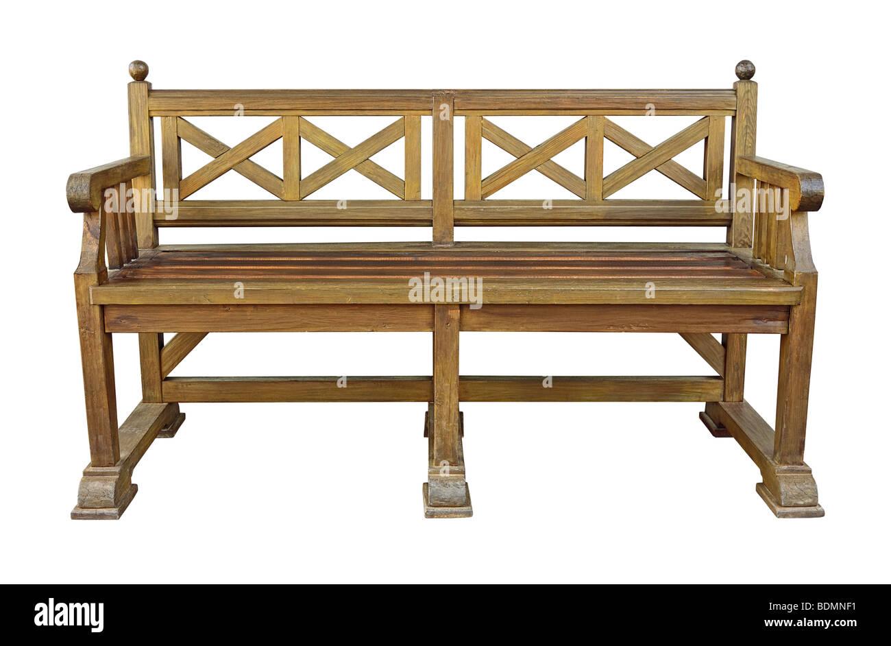 Wooden im genes de stock wooden fotos de stock alamy - Banco de madera blanco ...