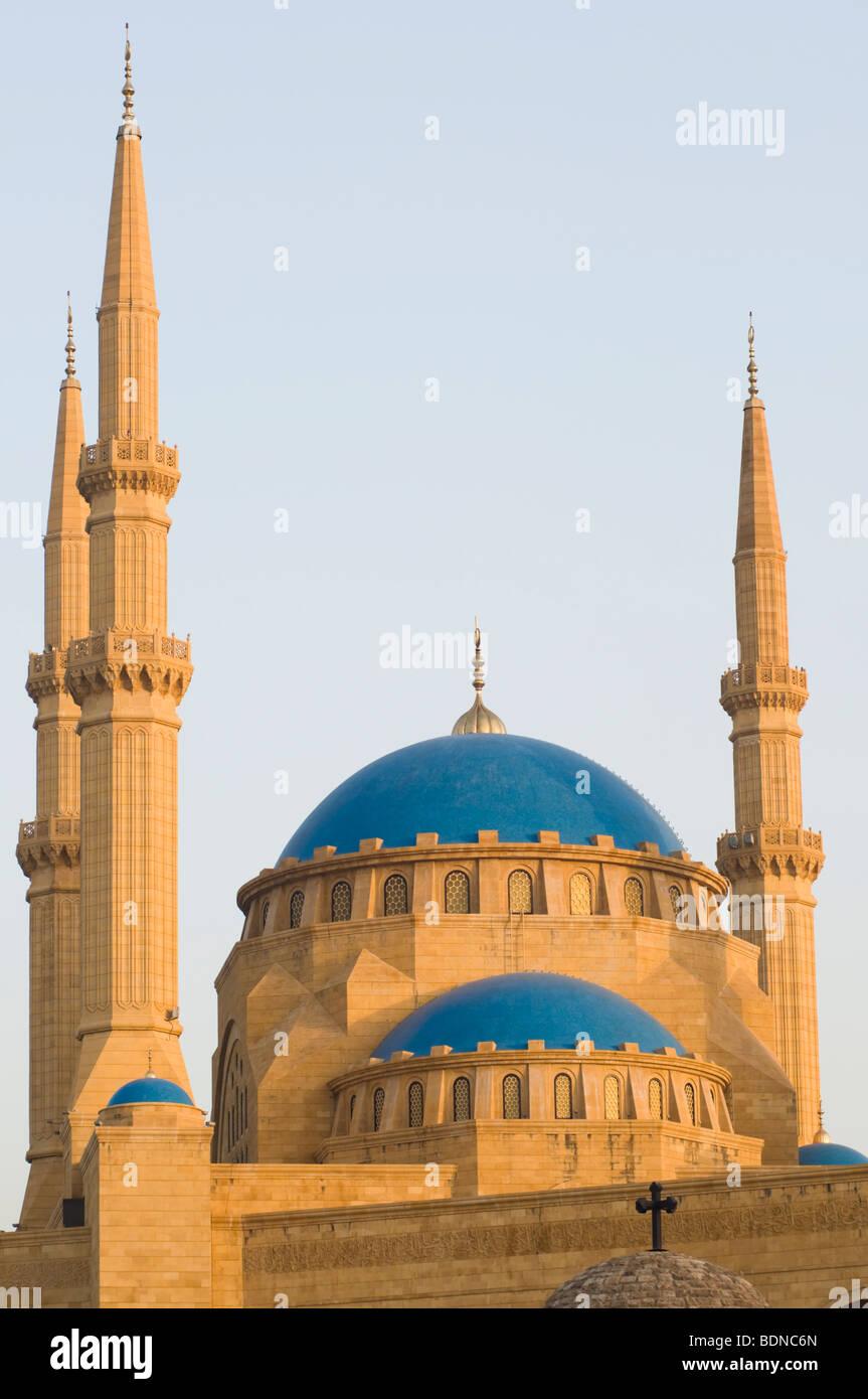 La Mohammad Al-Amin mezquita en el centro de Beirut, construido entre 2002 y 2007 por el ex Primer Ministro Libanés Imagen De Stock
