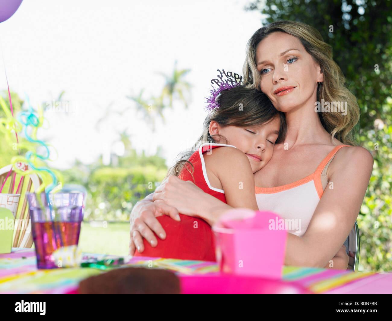 Retrato De Madre E Hija 7 9 En La Tabla De Cumpleanos Nina