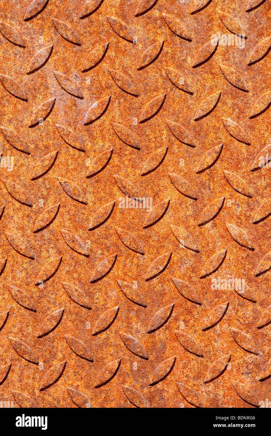 Placa metálica oxidada Foto de stock