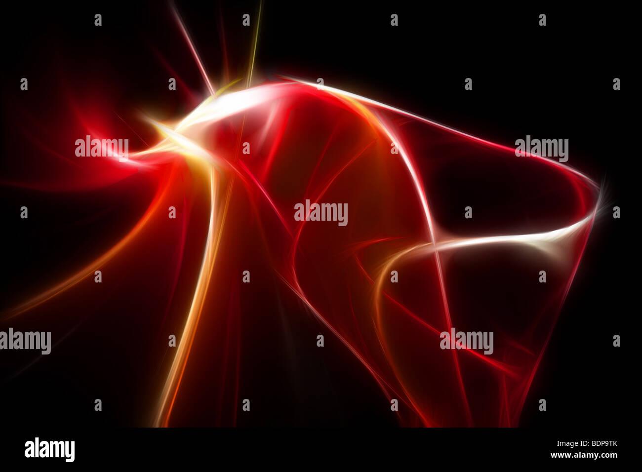 Ilustración 3d rojo abstracto Imagen De Stock