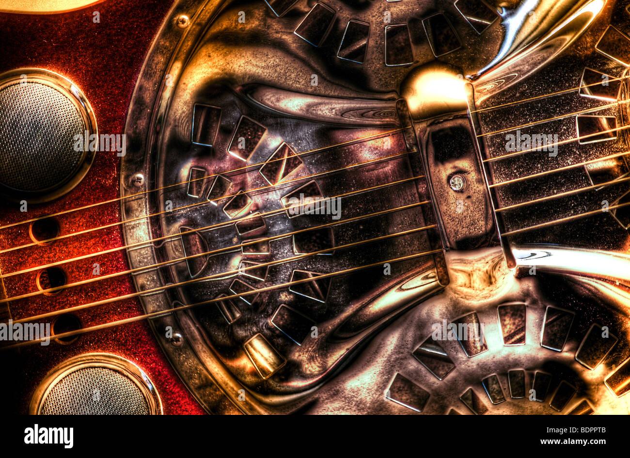 Una cadena de seis blues guitar Imagen De Stock
