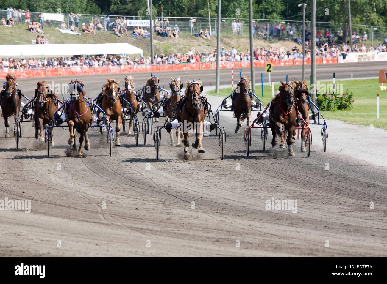 Carrera de trote Finlandia Lappeenranta Imagen De Stock