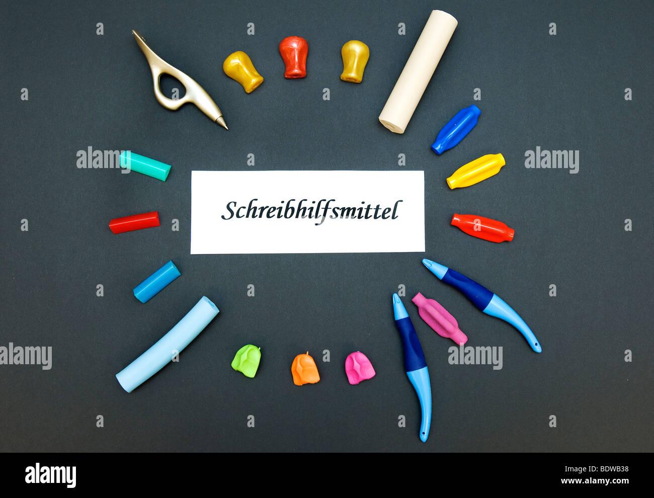 Herramientas de escritura para la terapia ocupacional Imagen De Stock