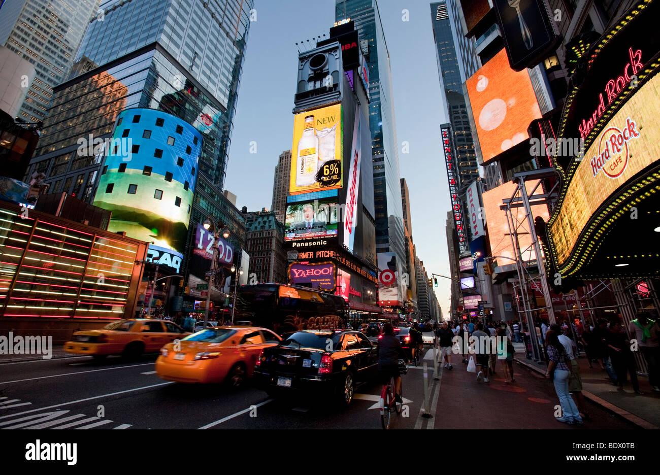 Times Square - New York City Foto de stock