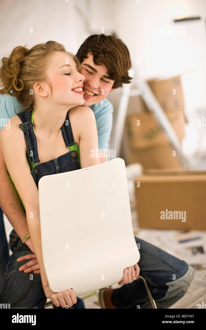 Extracción; primer amor; se mueven juntos Imagen De Stock