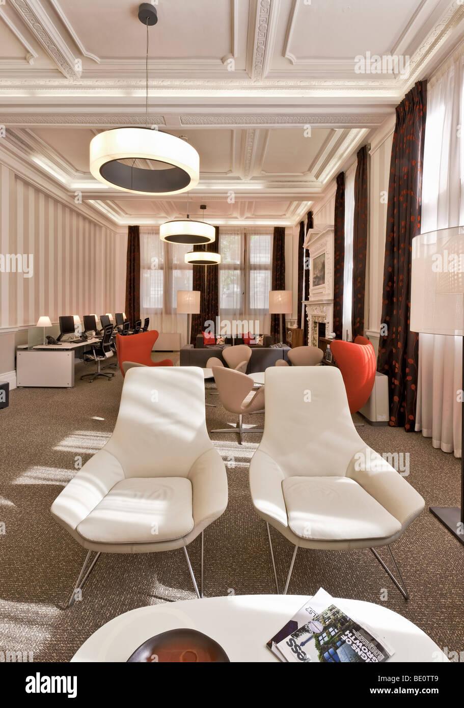 Lounge en el Royal Institution of Chartered Surveyors sede en Westminster, Londres. Imagen De Stock