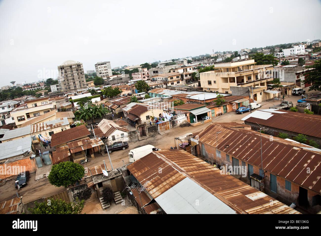 Esta es la ciudad capital de Benin de Cotonú. Imagen De Stock