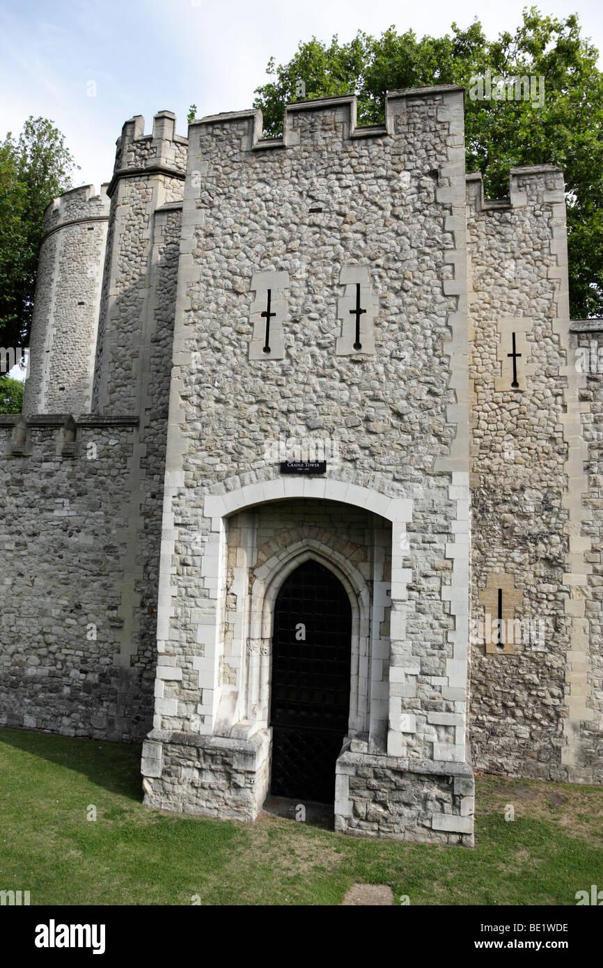 La torre de la cuna parte de la Torre de Londres, Gran Bretaña. Imagen De Stock