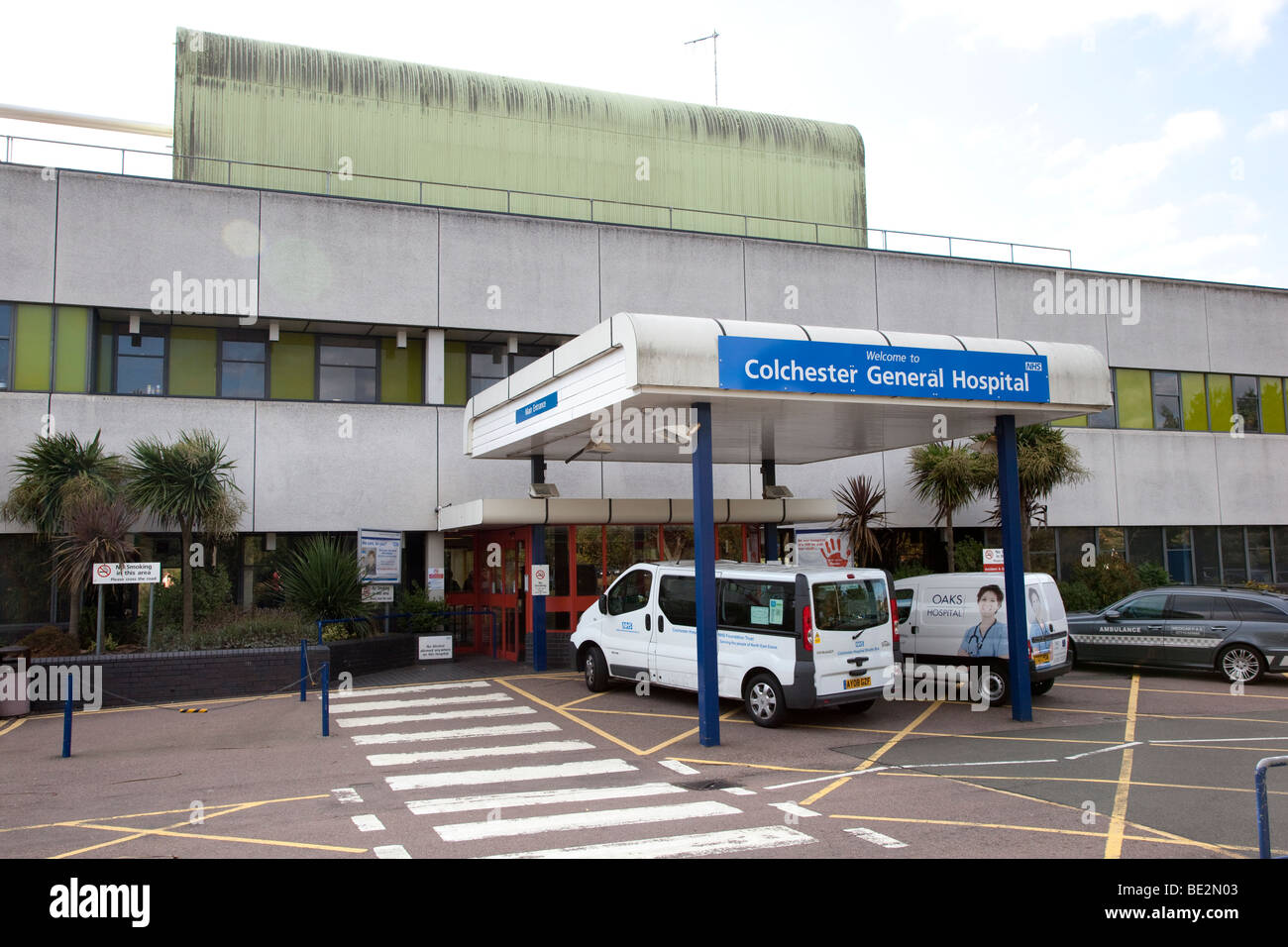Hospital General de Colchester, Essex Imagen De Stock