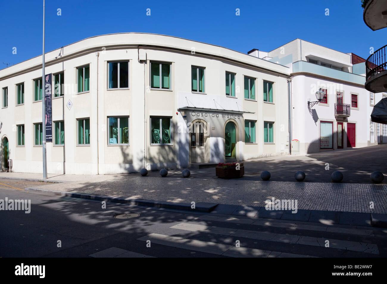 La Casa da Musica (música house) de Vila Nova de Famalicão. Distrito de Braga, Portugal. Imagen De Stock